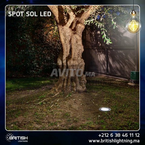 Spot sol 20W COB blanc chaud - 1