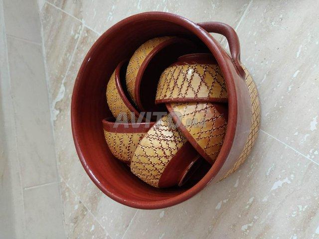 Soupière artisanale JDIDA avec ses 6 bols - 5