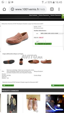 Mocassin Original Rockport Cuir Et Confortable - 5