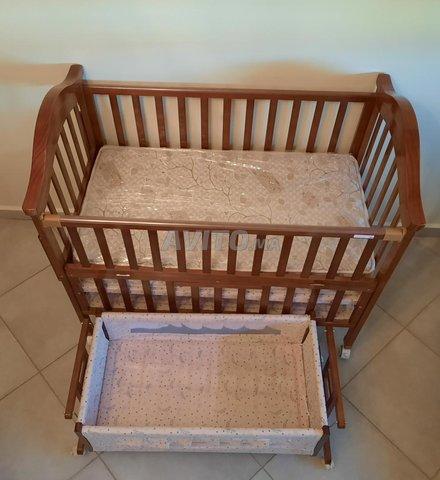 ensemble de lit pour bébé avec matela et berceau - 2