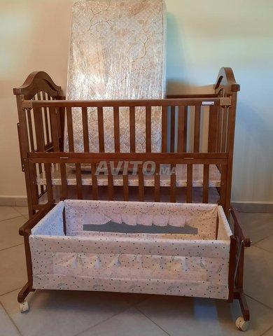 ensemble de lit pour bébé avec matela et berceau - 3