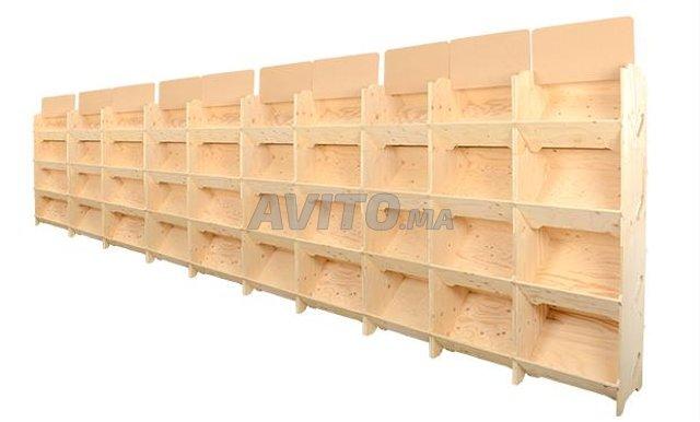 présentoir en bois en promo - 2