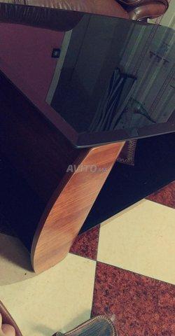 table en verre et bois - 3