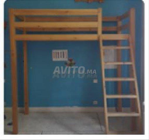 Lit mezzanine en bois massif - 1