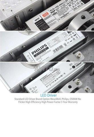 Lampadaire de rue étanche LED 50W BHM Solaire - 5
