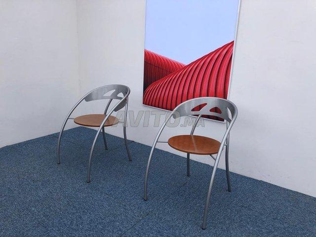 Chaise visiteur accueil métallique - 1
