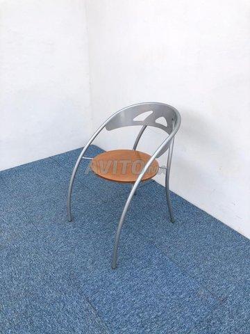 Chaise visiteur accueil métallique - 2