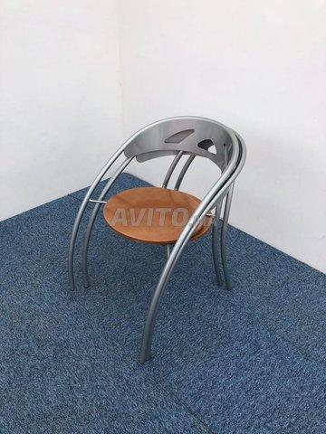 Chaise visiteur accueil métallique - 4