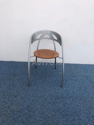 Chaise visiteur accueil métallique - 3