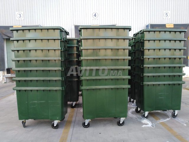 Poubelle bac à ordure 660L - 3