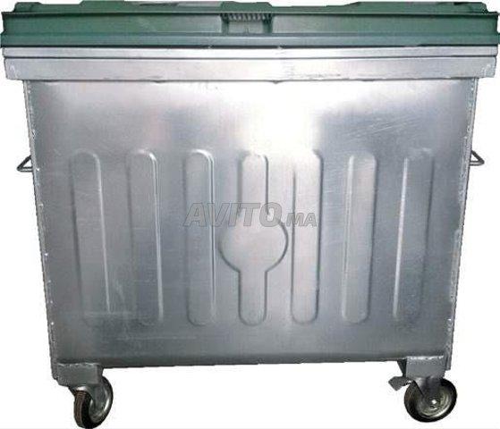 Poubelle bac à ordure 660L - 6