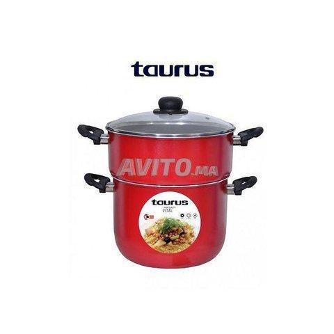 Taurus Couscoussier rouge VITAL Anti-Adhésive 4L - 1