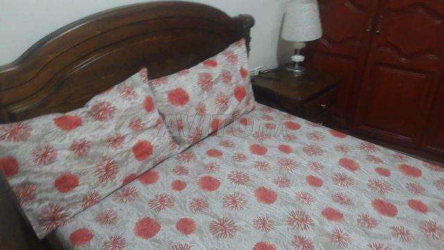 chambre a coucher en bois rouge 1er chois - 3