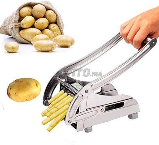Coupe-pommes de terre - En acier inoxydable - 1