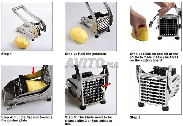 Coupe-pommes de terre - En acier inoxydable - 3