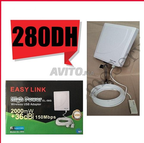 Carte wifi easy link 36dbi usb 2.0 Realtek - 1