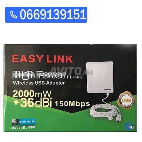 Carte wifi easy link 36dbi usb 2.0 Realtek - 2