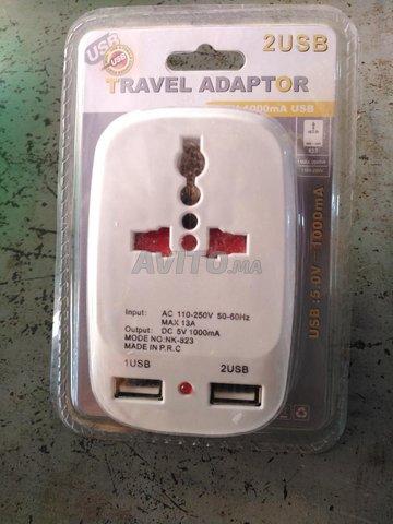 Fiche et Chargeur 2 port USB 5v  - 2