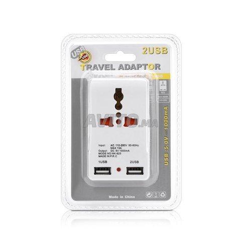 Fiche et Chargeur 2 port USB 5v  - 5