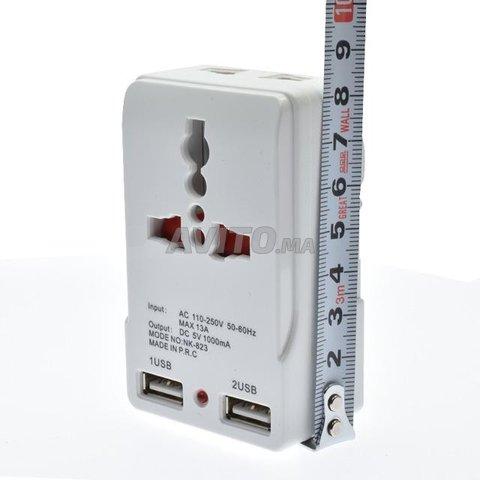 Fiche et Chargeur 2 port USB 5v  - 6