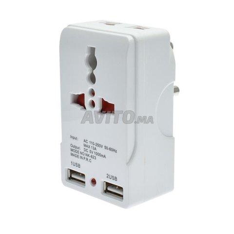Fiche et Chargeur 2 port USB 5v  - 1