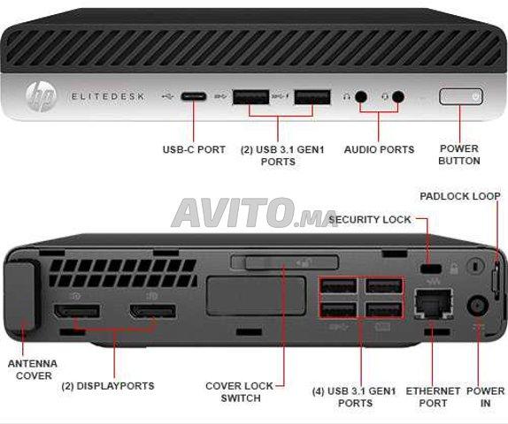HP EliteDesk 800 G3 Mini i7 Gen 6 / 8GB SSD 256GB  - 4