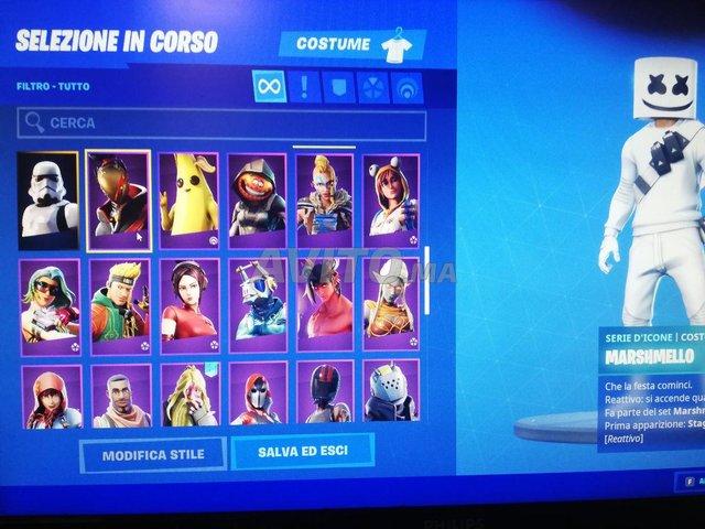 account fortnite 121 skins - 2