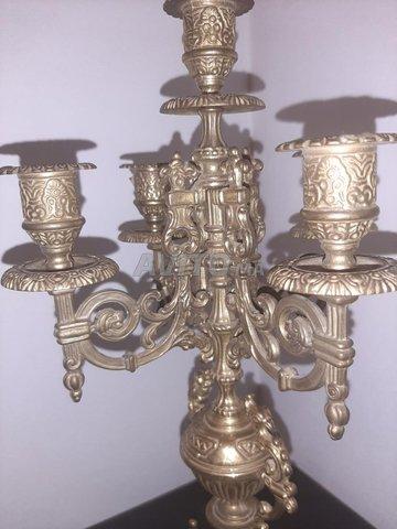 Bougeoir chandelier (HASKA)  5 branches   - 4