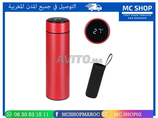 Bouteille Thermos Led en acier inoxydable - 8