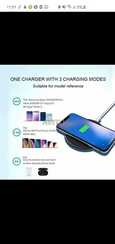 wireless charger charger sans-file 10W - 1