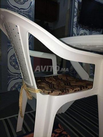 Tablede jardin à 4 chaises en plastique - 4