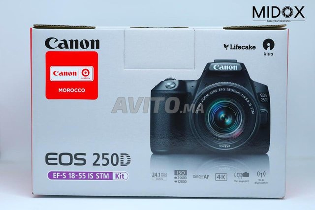 Canon 250D et 18-55mm is STM Neuf MAGASIN Midox - 1