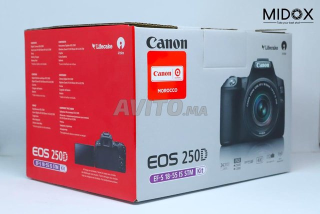Canon 250D et 18-55mm is STM Neuf MAGASIN Midox - 2