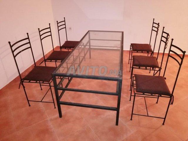 Table fer et vitre 6 chaises - 3