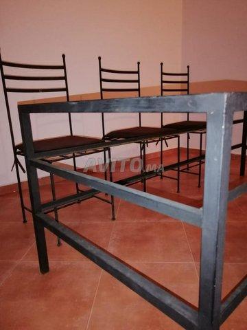 Table fer et vitre 6 chaises - 2