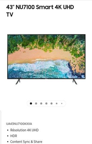 SAMSUNG SERIE 7 UHD 4K SMART TV  43'  - 1