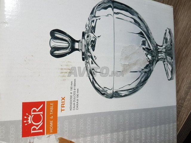 Bonbonnière en cristal neuve - 1