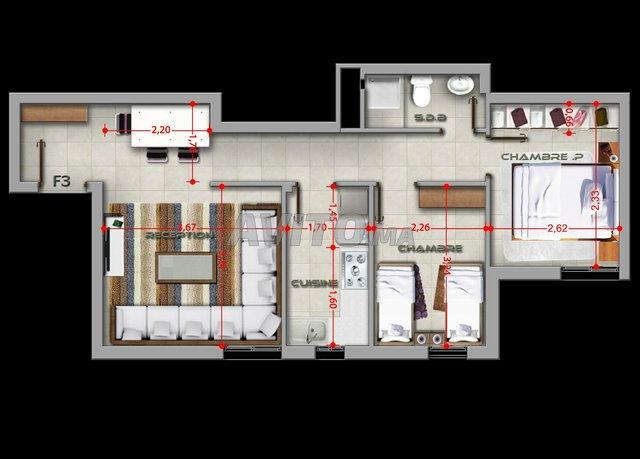 Appartement 50m à Salé tabriquet  - 1
