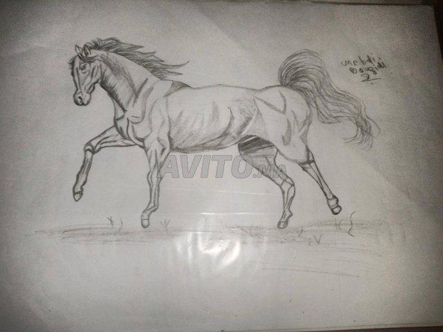 رسم حصان بالقلم الرساس - 3
