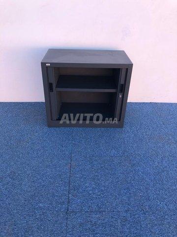 Armoire basse vinco gris anthracite 73x80cm - 2