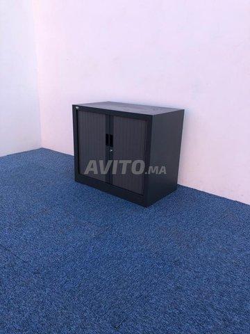 Armoire basse coulissante vinco gris  73x80cm - 1