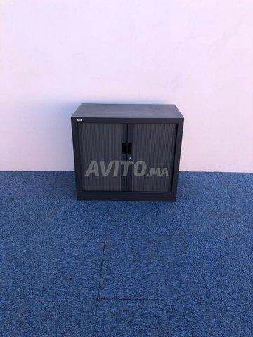 Armoire basse coulissante vinco gris  73x80cm - 3