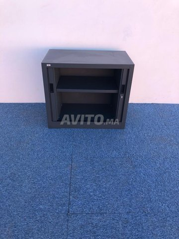 Armoire basse coulissante vinco gris  73x80cm - 2