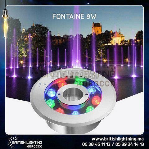 Projecteur fontaine LED RGB 9W 12/24V - 2