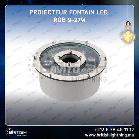 Projecteur fontaine LED RGB 9W 12/24V - 5