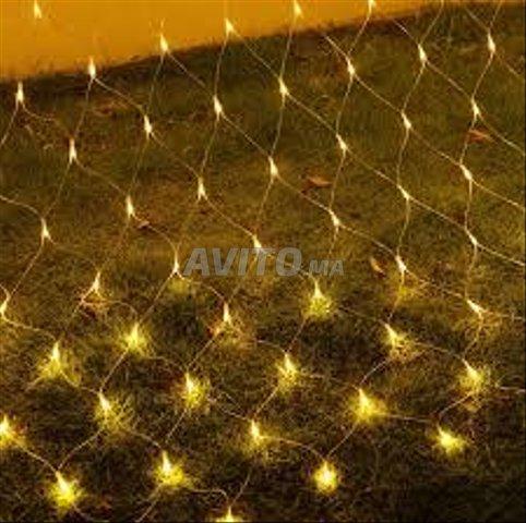 Filet lumineux à LED 4×6 mètres Blanc - 3
