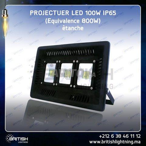 Projecteur LED 100W Ultraslim IP65 (étanche) - 1