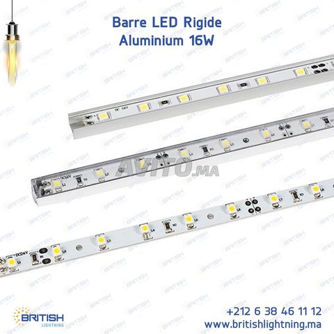 Barre LED Rigide 16W Aluminium - 1