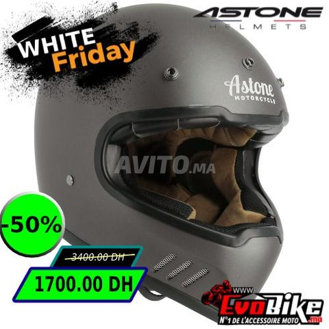 CASQUE ASTONE SUPER RETRO GRIS - PROMO  - 1