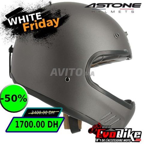 CASQUE ASTONE SUPER RETRO GRIS - PROMO  - 4